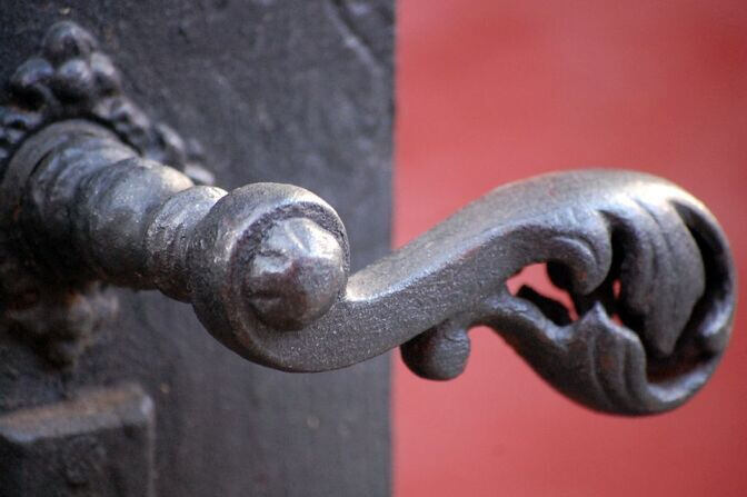 Door handle on the Red House