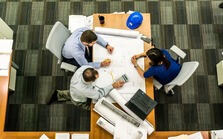 Photo of a team at work